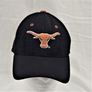 TEXAS LONGHORNS NCAA Black Baseball Cap Hat M/L